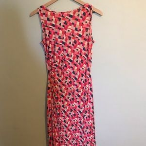 DVF Geometric Pink Silk Dress size 8